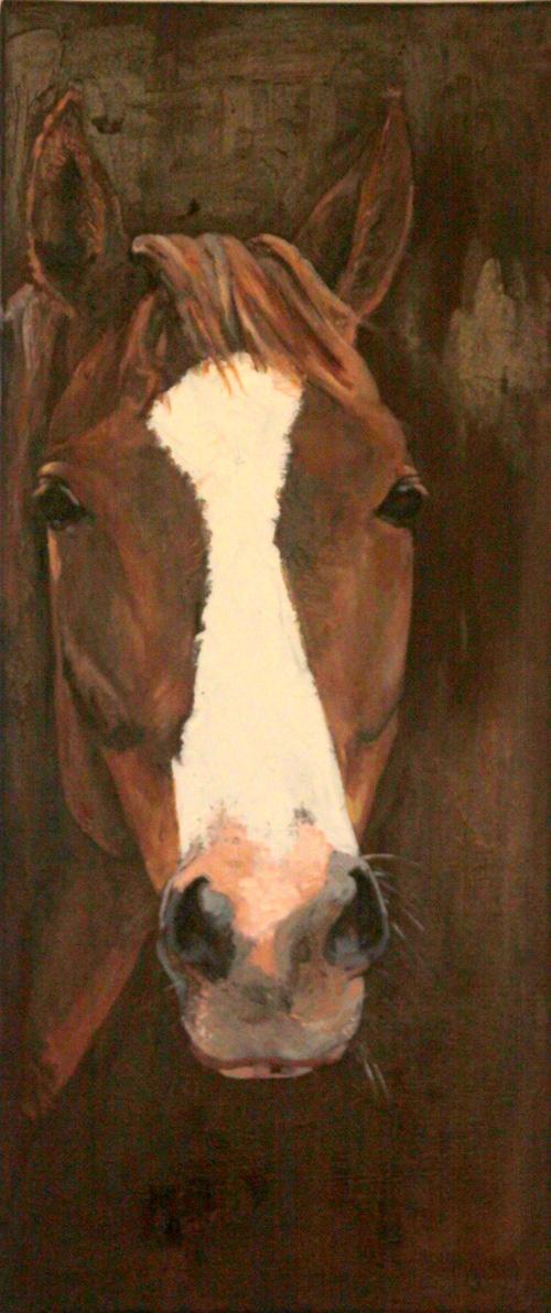 schilderij paard Goldy