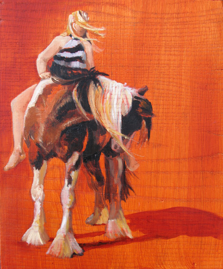 painting horse bonte and pauline