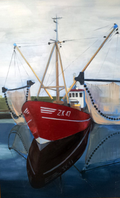 painting fishing boat AK 47 Zoutkamp