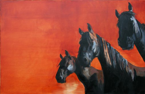painting black horses