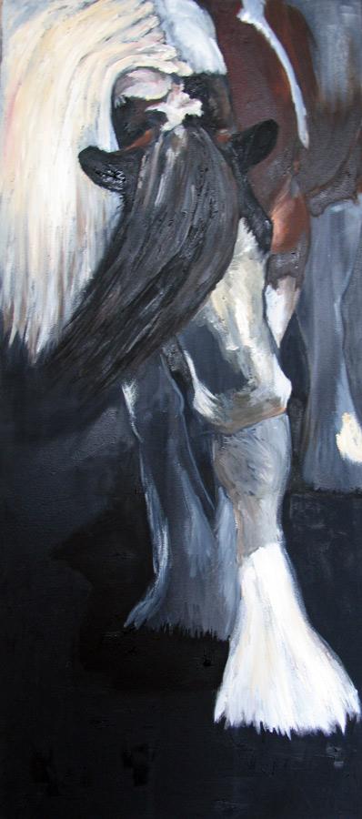 paard Bonte buigt