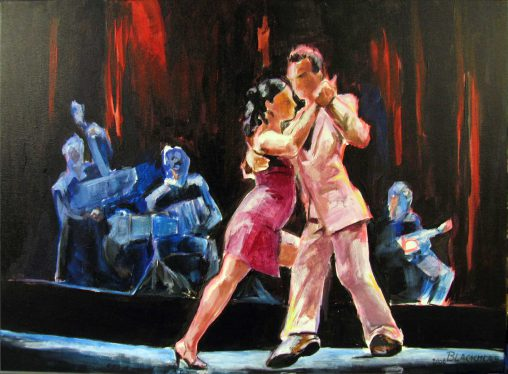 painting tango with orchestre
