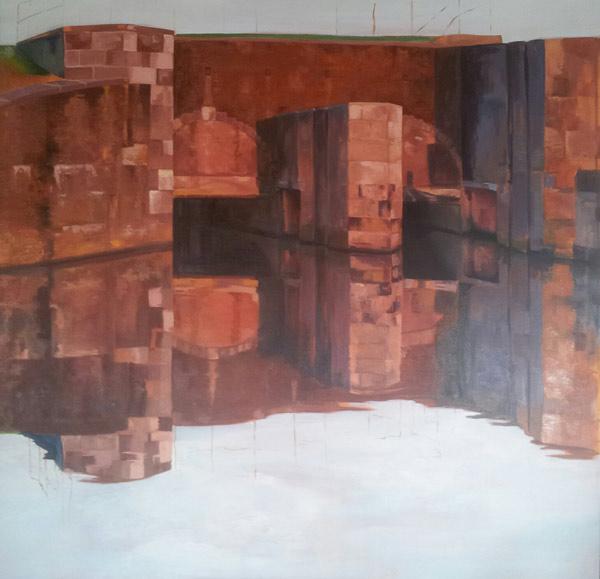 painting Sluis Zoutkamp Groningen