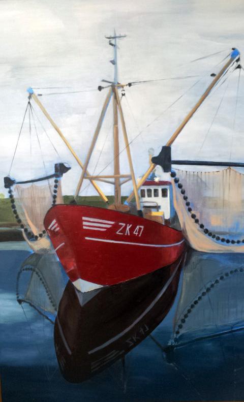 painting fishing boat AK 47 Zoutkamp