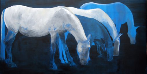 painting lost horses Lipica