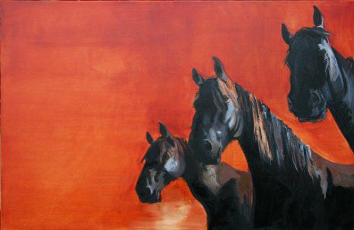 painting black horses